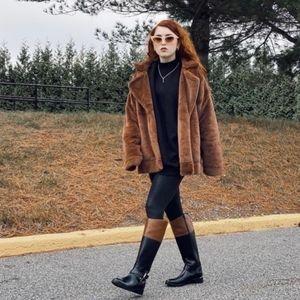 Aerie Faux Fur Jacket S NWOT